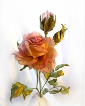 Шелковые цветы своими руками