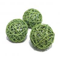 Шарики ротанговые зеленого цвета