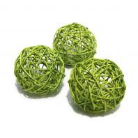 Шарики ротанговые зеленые