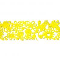 Лента из ярко-желтого фетра