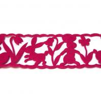 Лента пасхальная розовая
