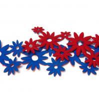 Двухцветная лента сине-красная