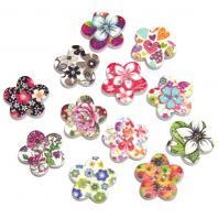 Пуговицы цветочки с цветочками