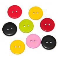 Пуговицы круглые пластиковые