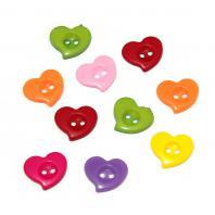Сердечки для скрапбукинга пуговицы