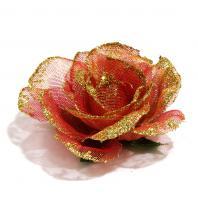 Розы из шифона головки
