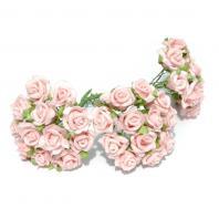 Розочки светло-розовые из латекса