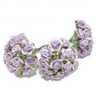 Фиолетовые розочки мини латекс