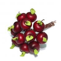 Яблочки искусственные красные маленькие