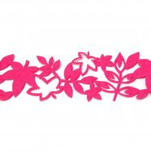 Лента с листочками из фетра