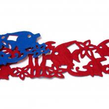 Двухцветная лента с рыбками из фетра