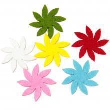 Цветы из фетра разного цвета