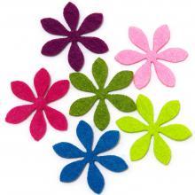 Цветочки из фетра фигурные