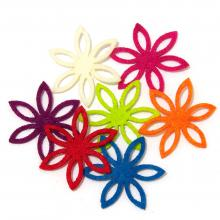 Фигурные цветочки из фетра