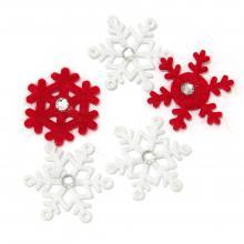 Снежинки из фетра с камешками