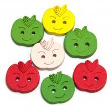 Пуговицы деревянные яблочки
