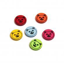Пуговицы пластиковые мишки мордочки детские