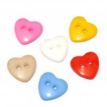 Сердечки пластиковые пуговицы