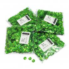 Пайетки голографические салатовые