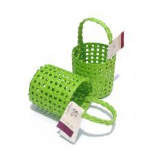 Зеленая корзиночка мини