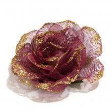 Головка розы из сеточки с перламутром