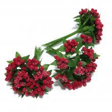 Красные ягодки из пенопласта декор