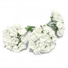Белые розочки мини латексные