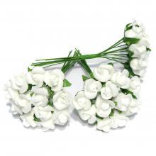 Розочки миниатюрные латексные белые