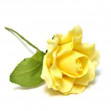 Желтые розы из латекса