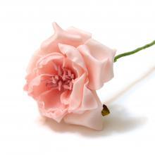 Роза персиковая из латекса