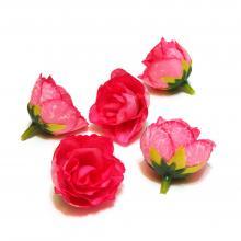 Розовые головки розочек маленькие