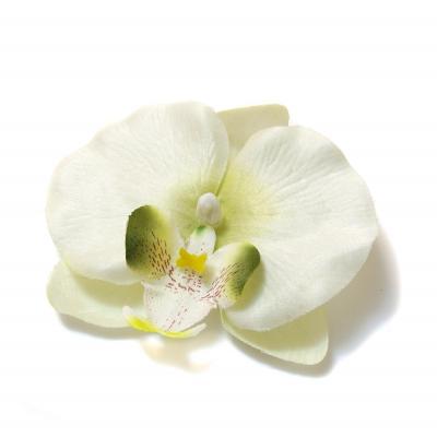Головка белой орхидеи из ткани