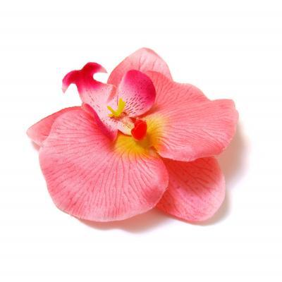 Головки цветов из ткани розовые