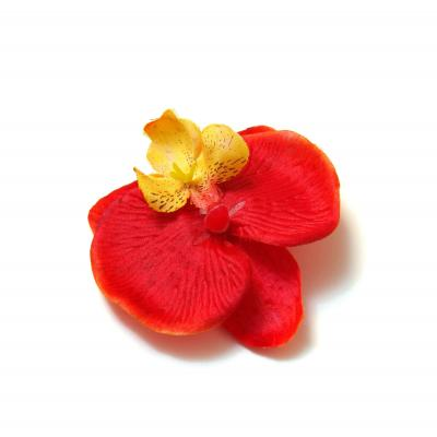 Головка красной орхидеи искусственная