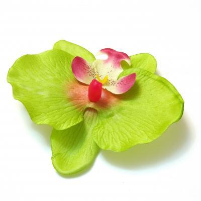 Зеленая головка орхидеи из ткани