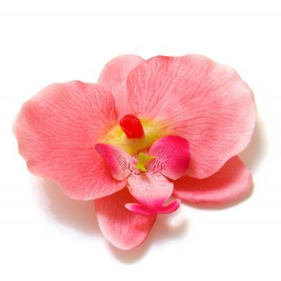 Головка орхидеи из ткани розовая большая