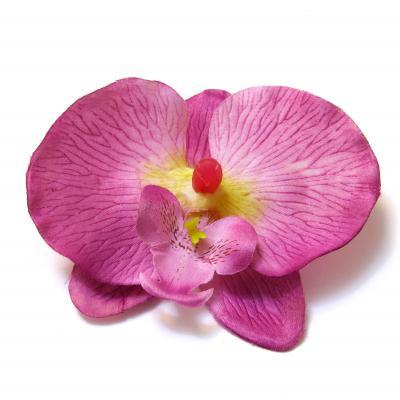 Большая головка орхидеи ткань