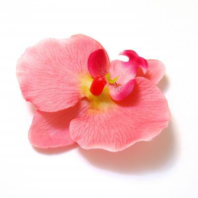 Орхидеи из ткани для заколок