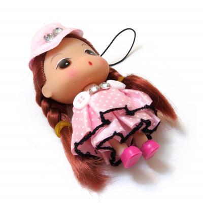Куколка маленькая в розовом платье