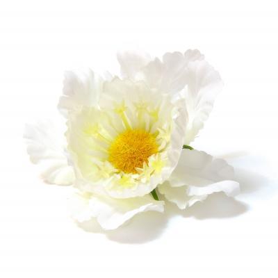 Головки цветов из ткани и пластика