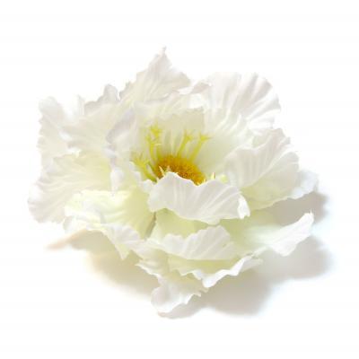 Головка искусственного цветка белая