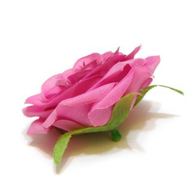 Розы из розовой ткани