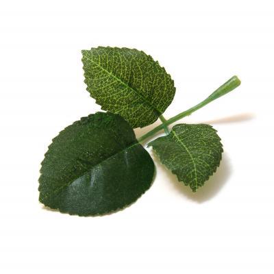 Листья розы ткань