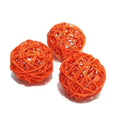 Шарики декоративные оранжевые