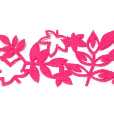Розовая лента из войлочной ткани
