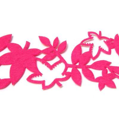 Лента темно-розовая из фетра