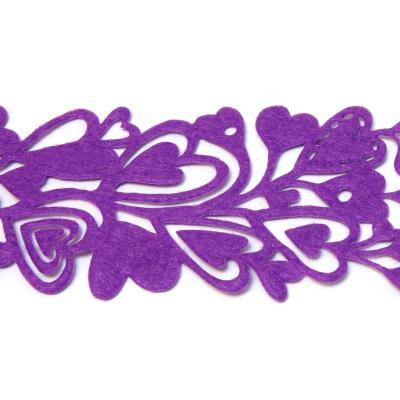 Фиолетовая лента с сердечками