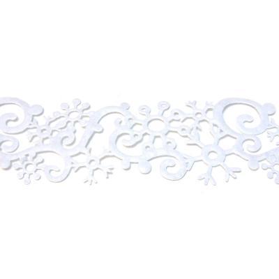 Белая декоративная лента из фетра