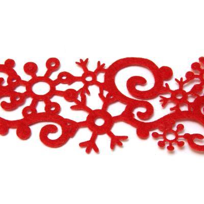 Красная лента со снежинками