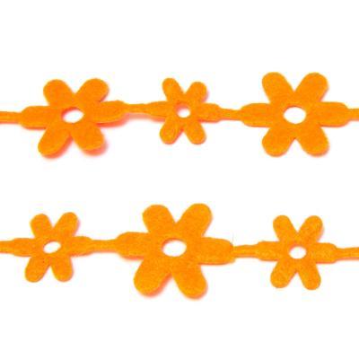 Лента с цветочками фетр вырубка